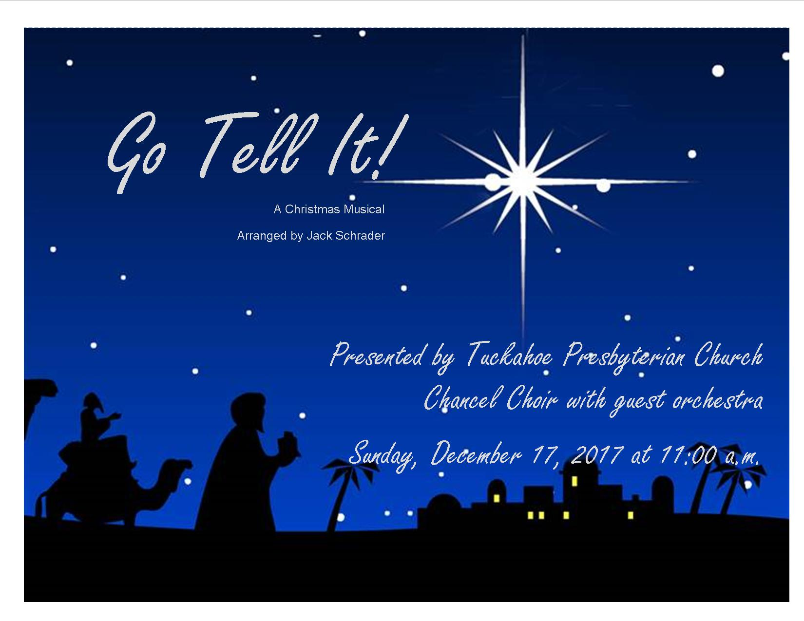 Christmas Cantata Go Tell It Poster